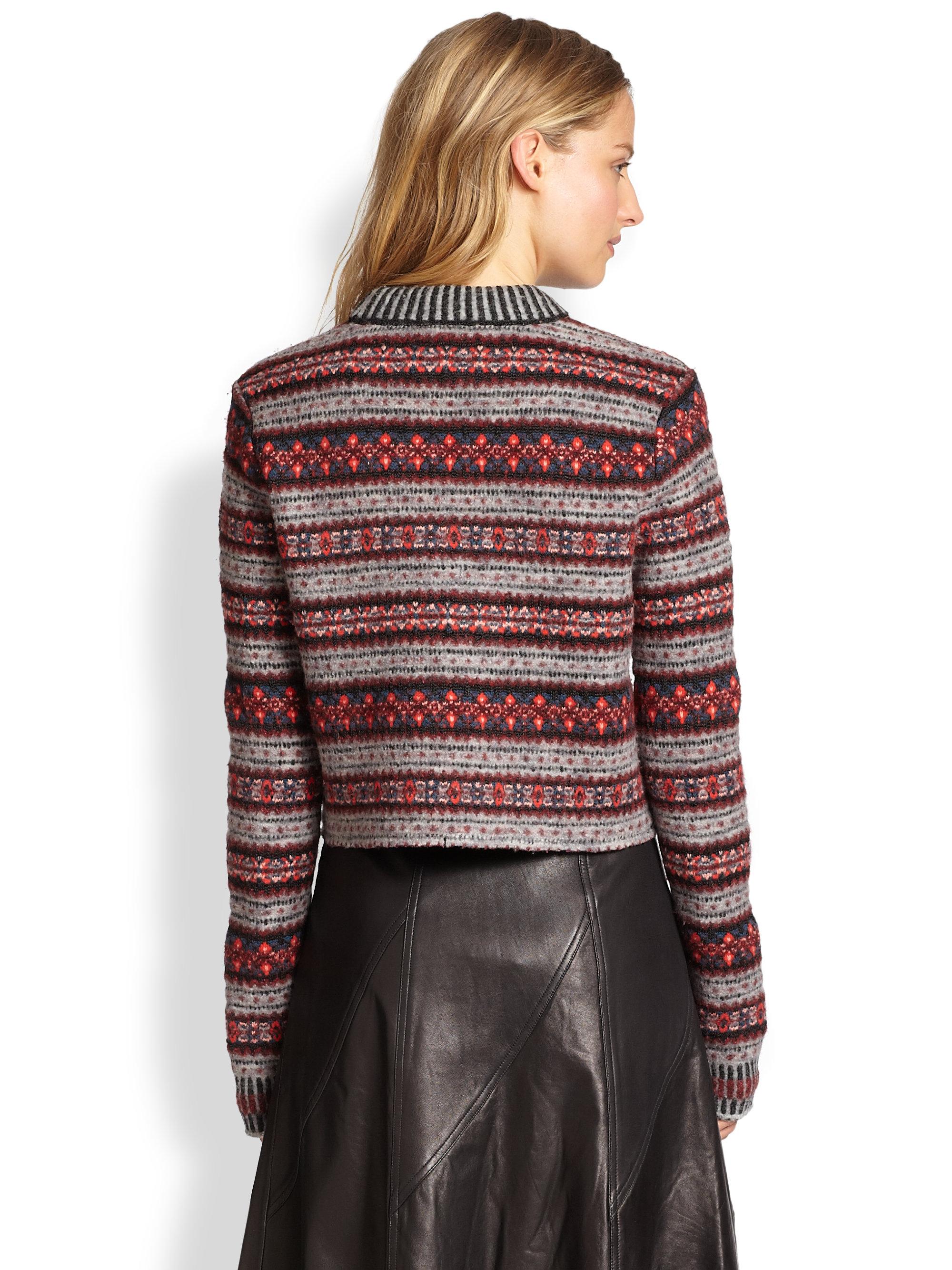 red fair isle sweater gray cardigan sweater. Black Bedroom Furniture Sets. Home Design Ideas