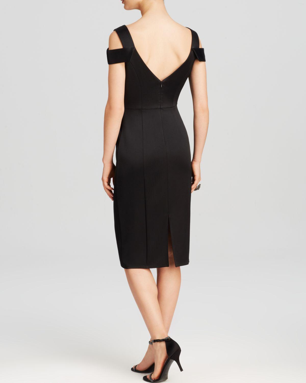 Abs by allen schwartz Dress - V-Neck Cold Shoulder Sheath in Black ...