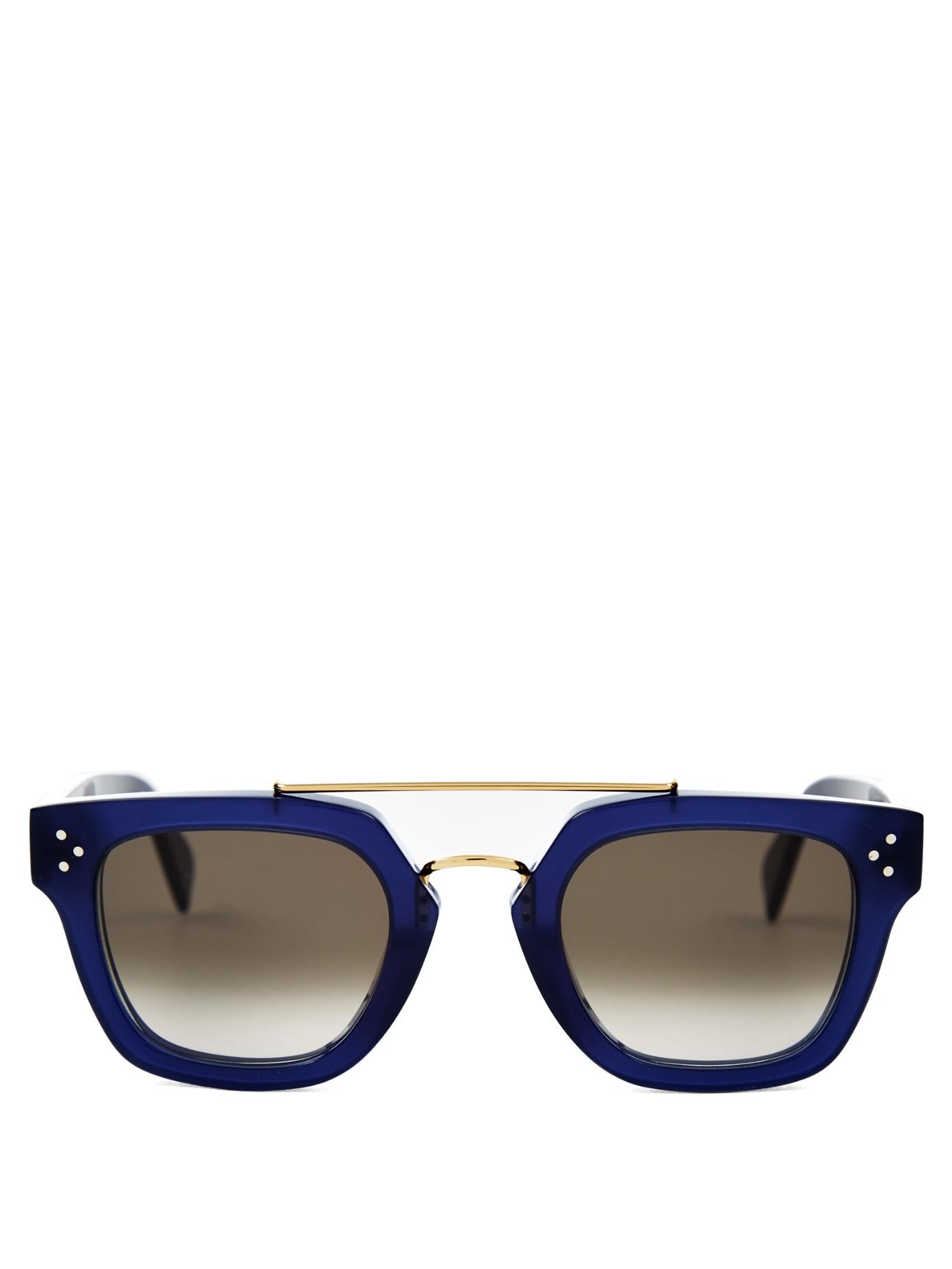 Lyst C 233 Line Aviator Acetate Sunglasses In Blue