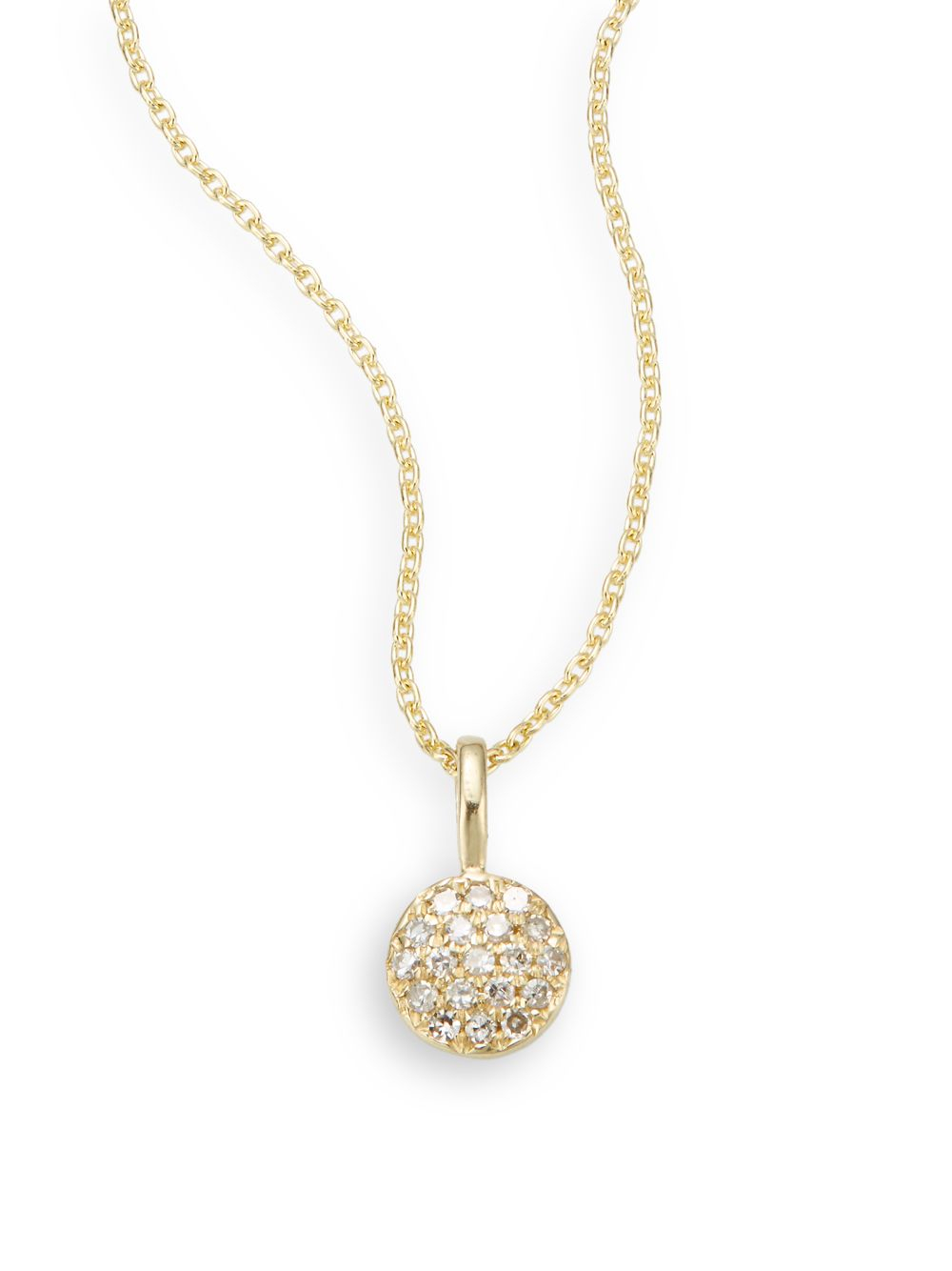 saks fifth avenue diamond 14k yellow gold necklace in