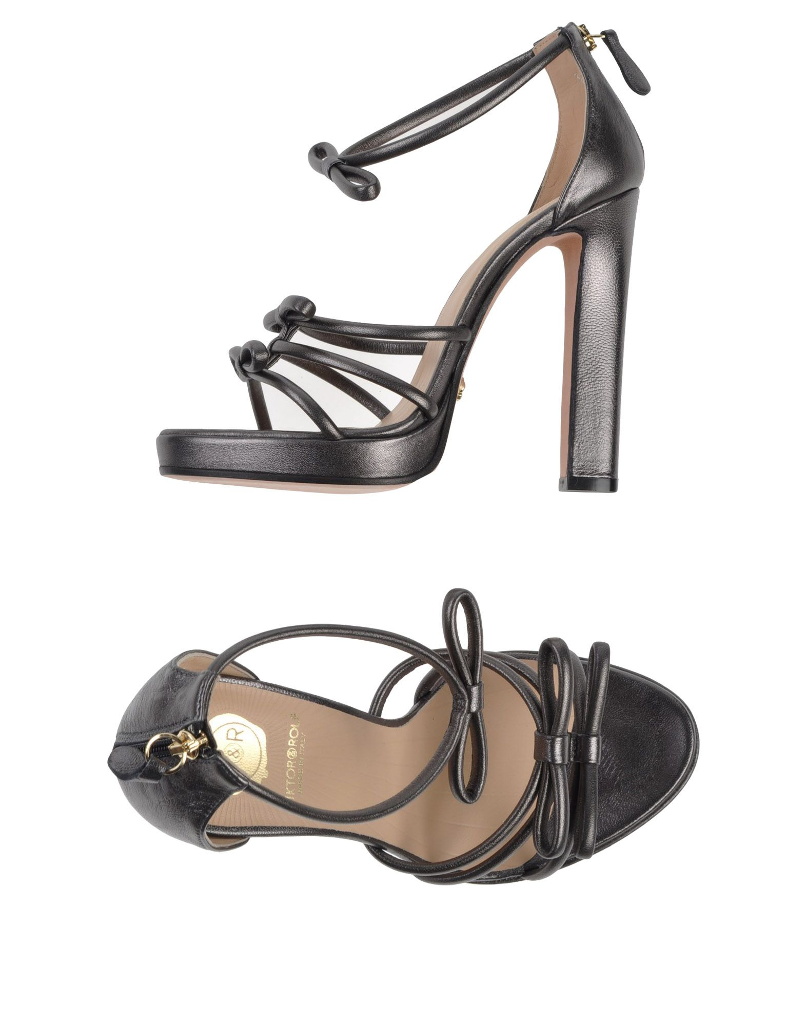 viktor rolf sandals in gray lyst. Black Bedroom Furniture Sets. Home Design Ideas