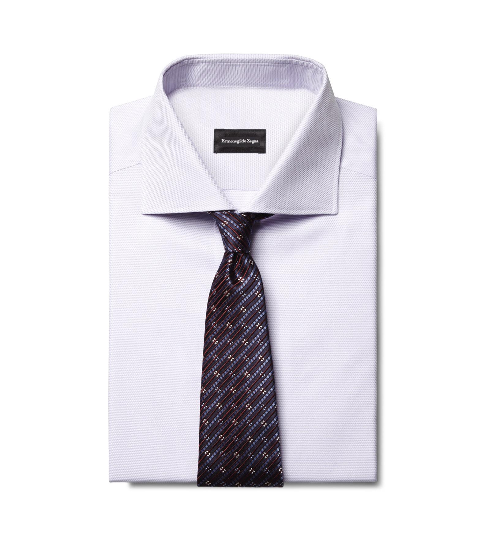 Ermenegildo zegna Blue/Burgundy/White Silk Diamonds Tie in Blue ...
