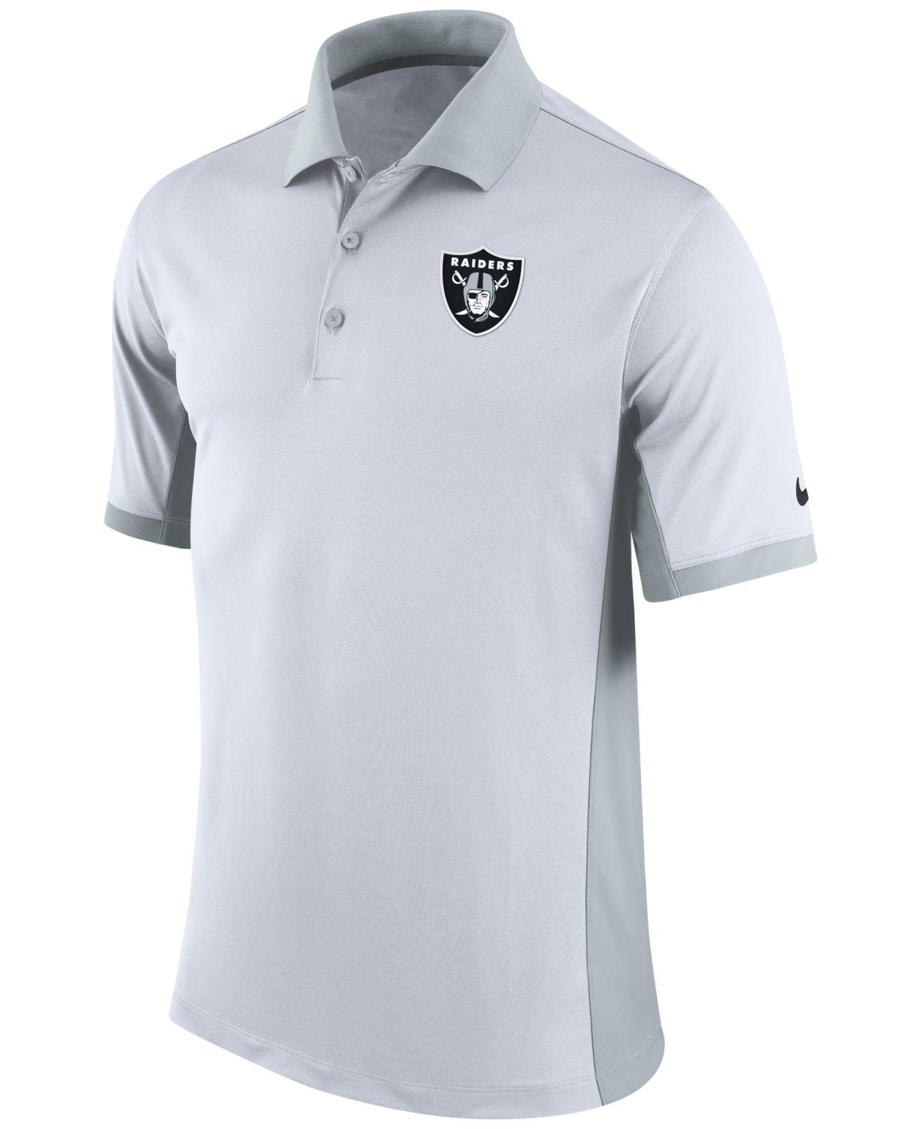 Nike Men 39 S Oakland Raiders Team Issue Polo In Gray For Men