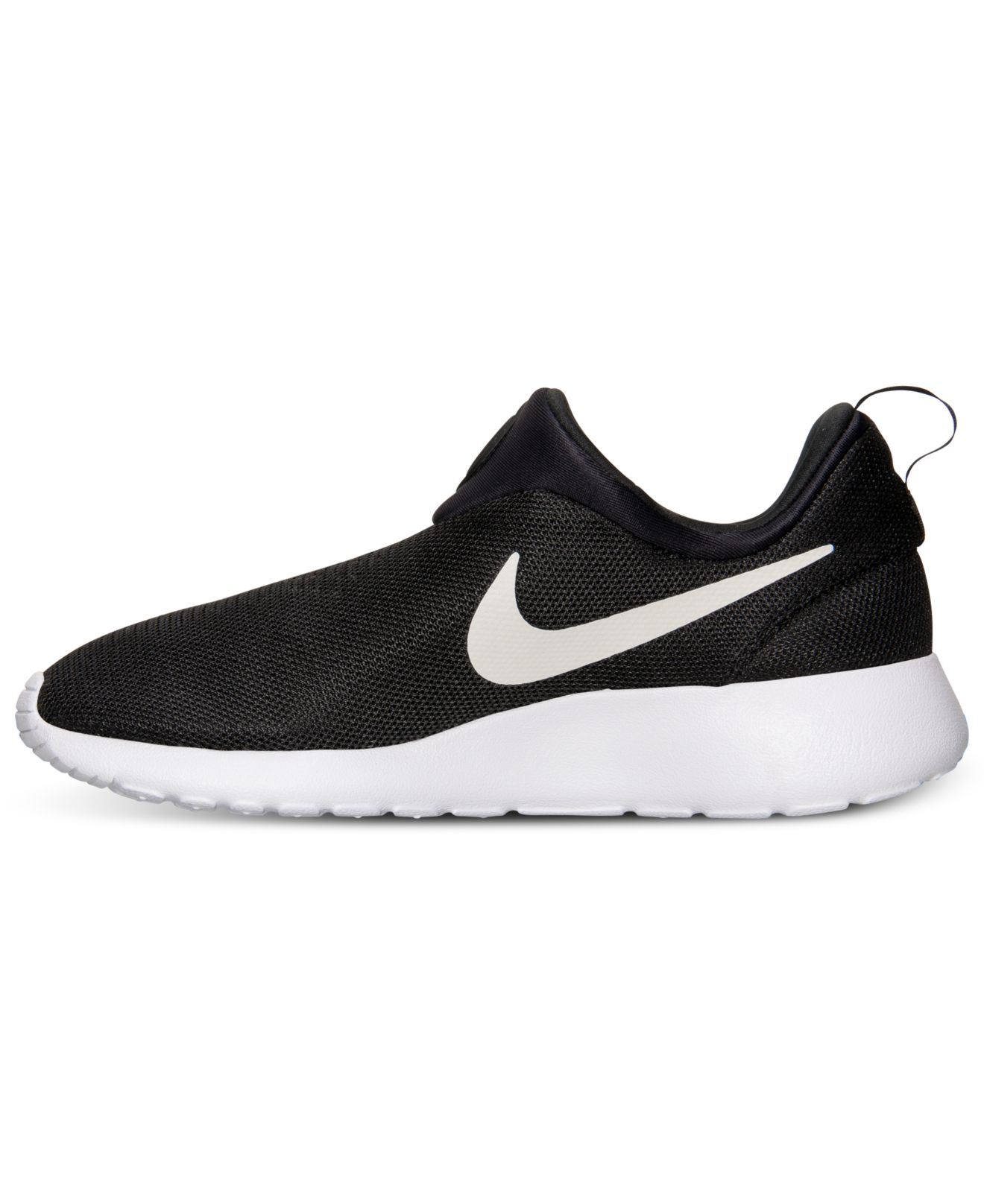 Black And White Roshe Run Shoes
