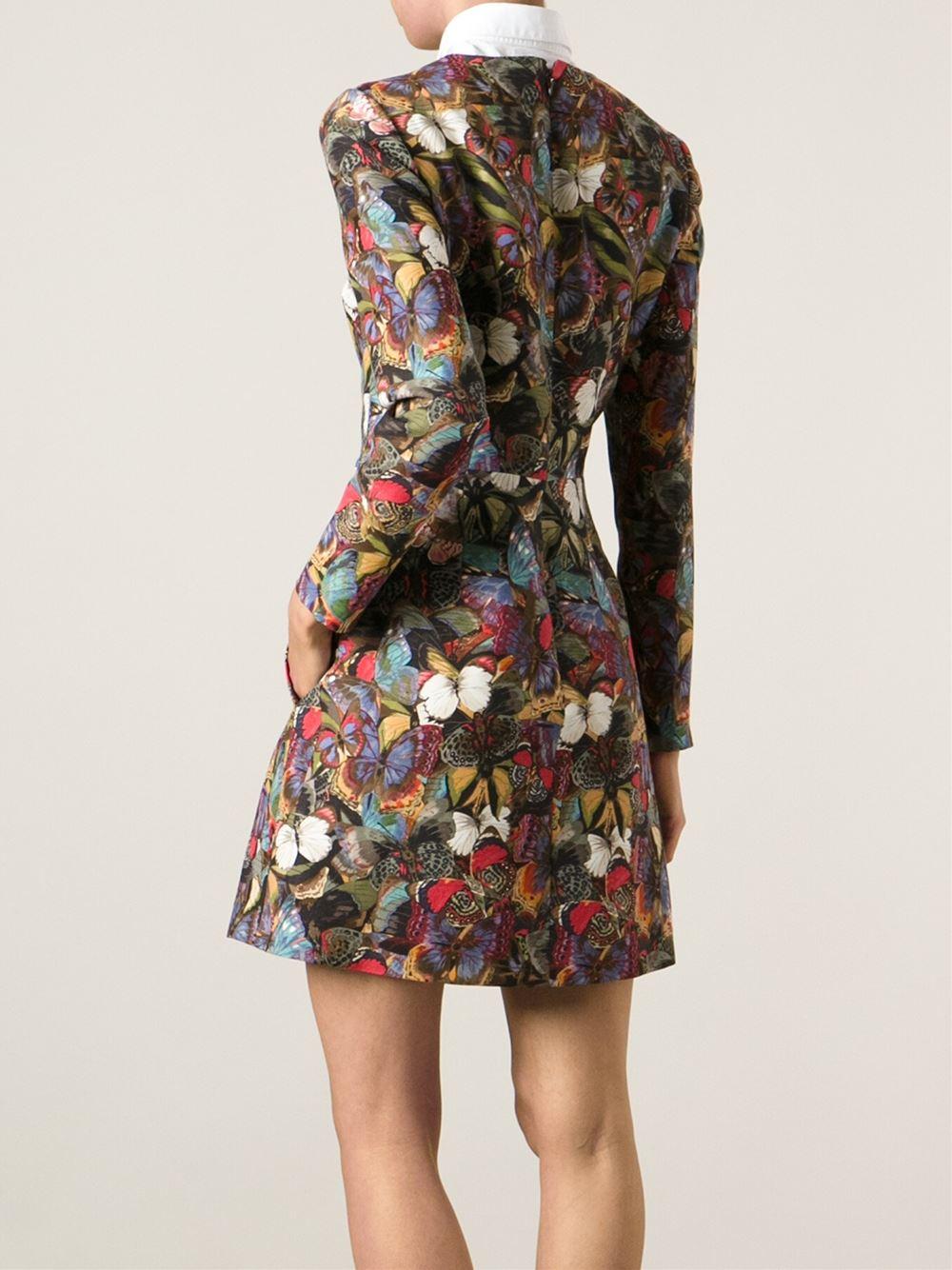 Lyst Valentino Butterfly Print Dress
