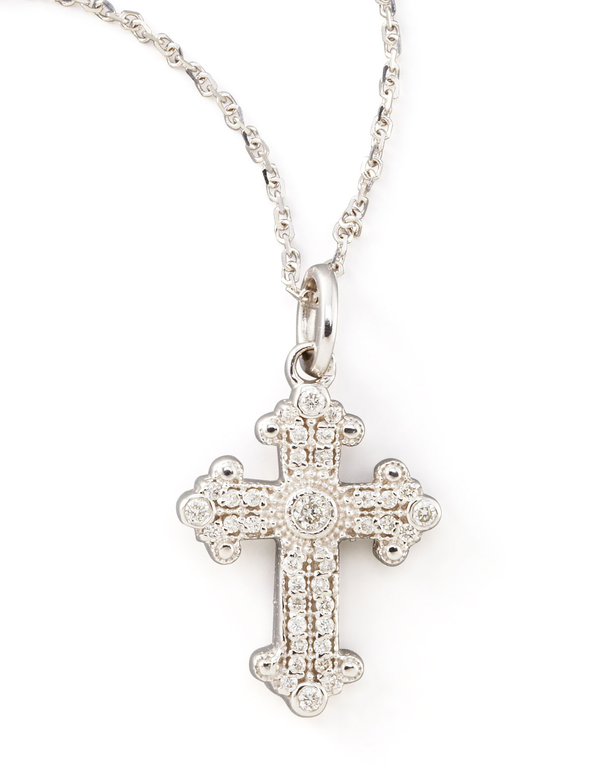 kc designs byzantine cross necklace in white lyst