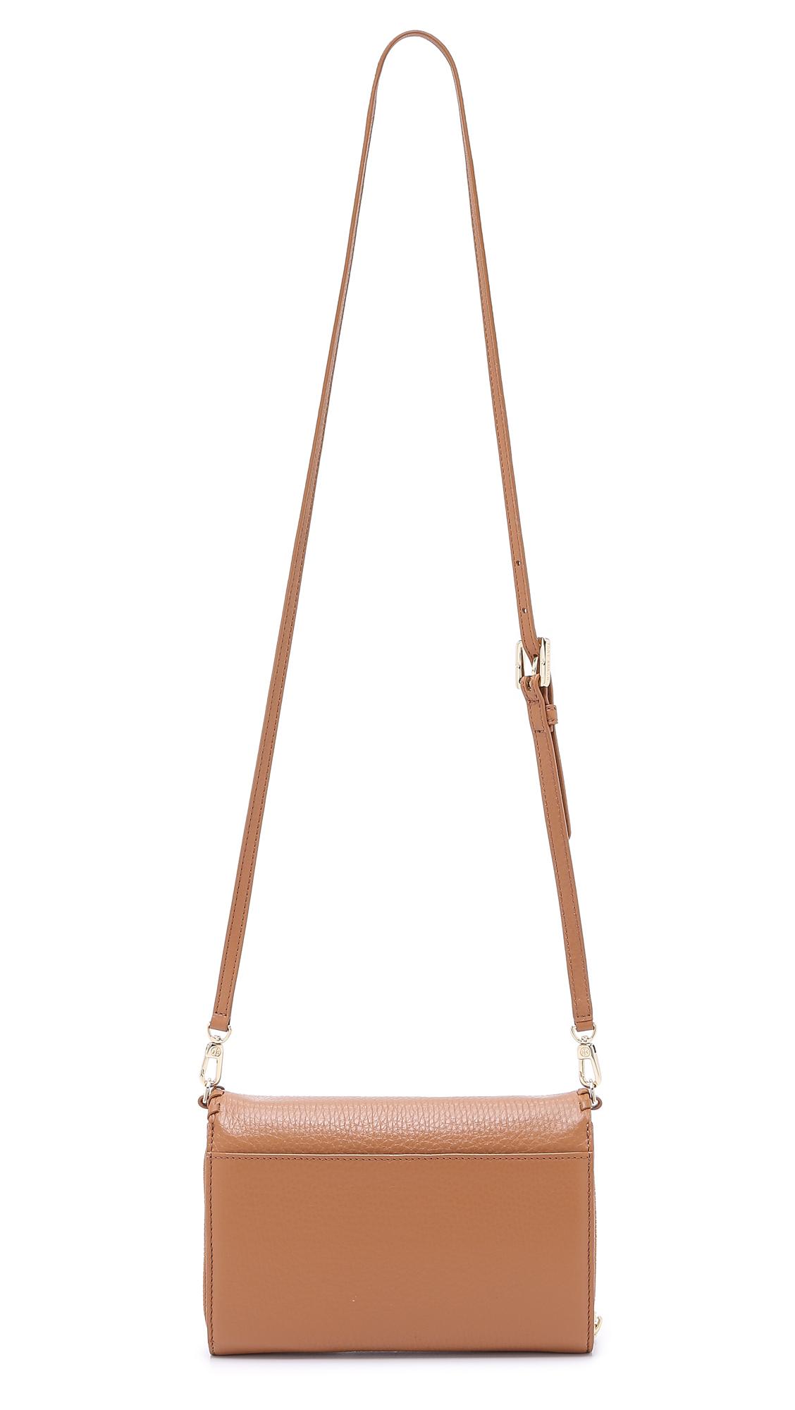 Lyst - Tory Burch Marion Flat Wallet Cross Body Bag