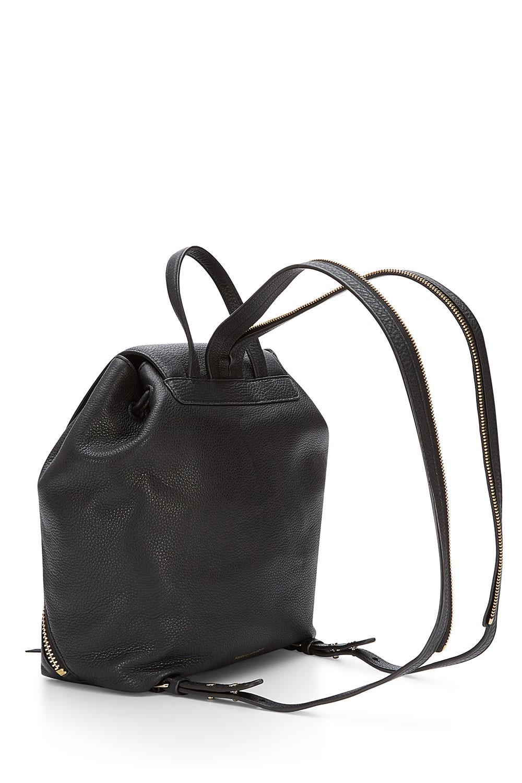 Rebecca minkoff Bryn Moto Leather Backpack in Black