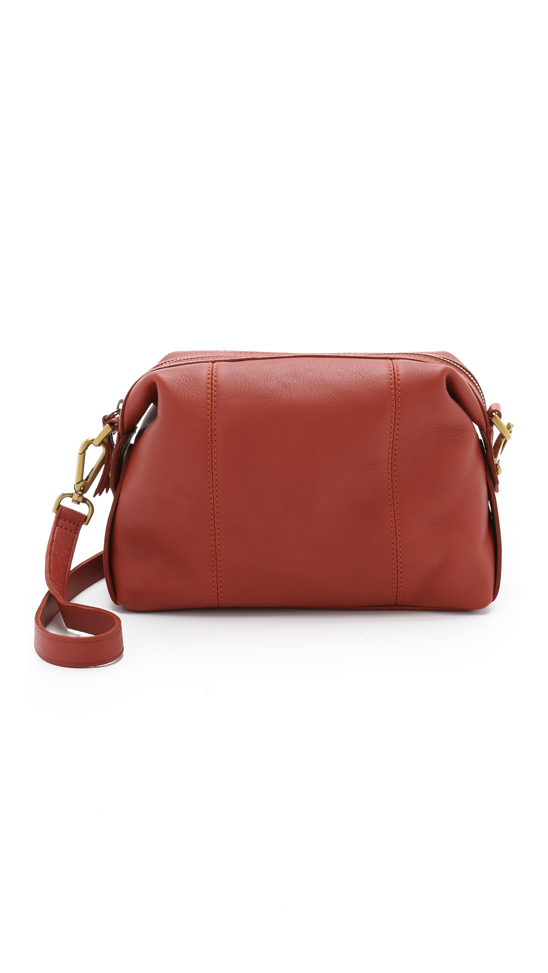 Madewell The Mini Cross Body Glasgow Satchel - Burnished Rust in Brown