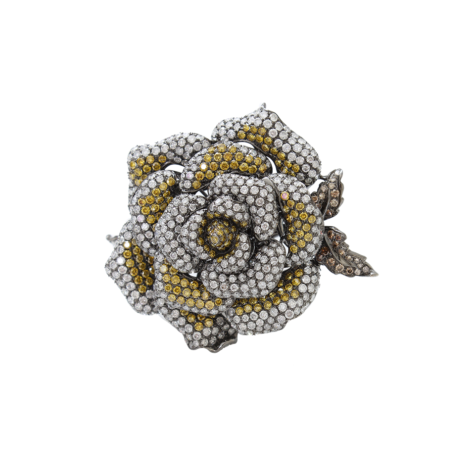 wendy yue flower ring in yellow lyst