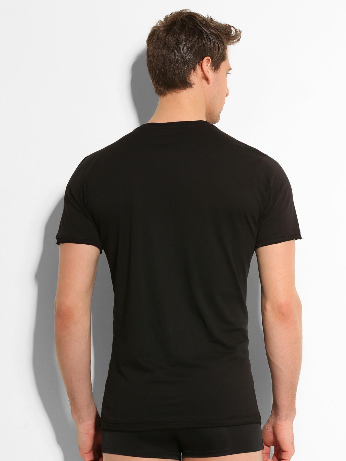 Guess back to la t shirt in black for men lyst for Black t shirt back