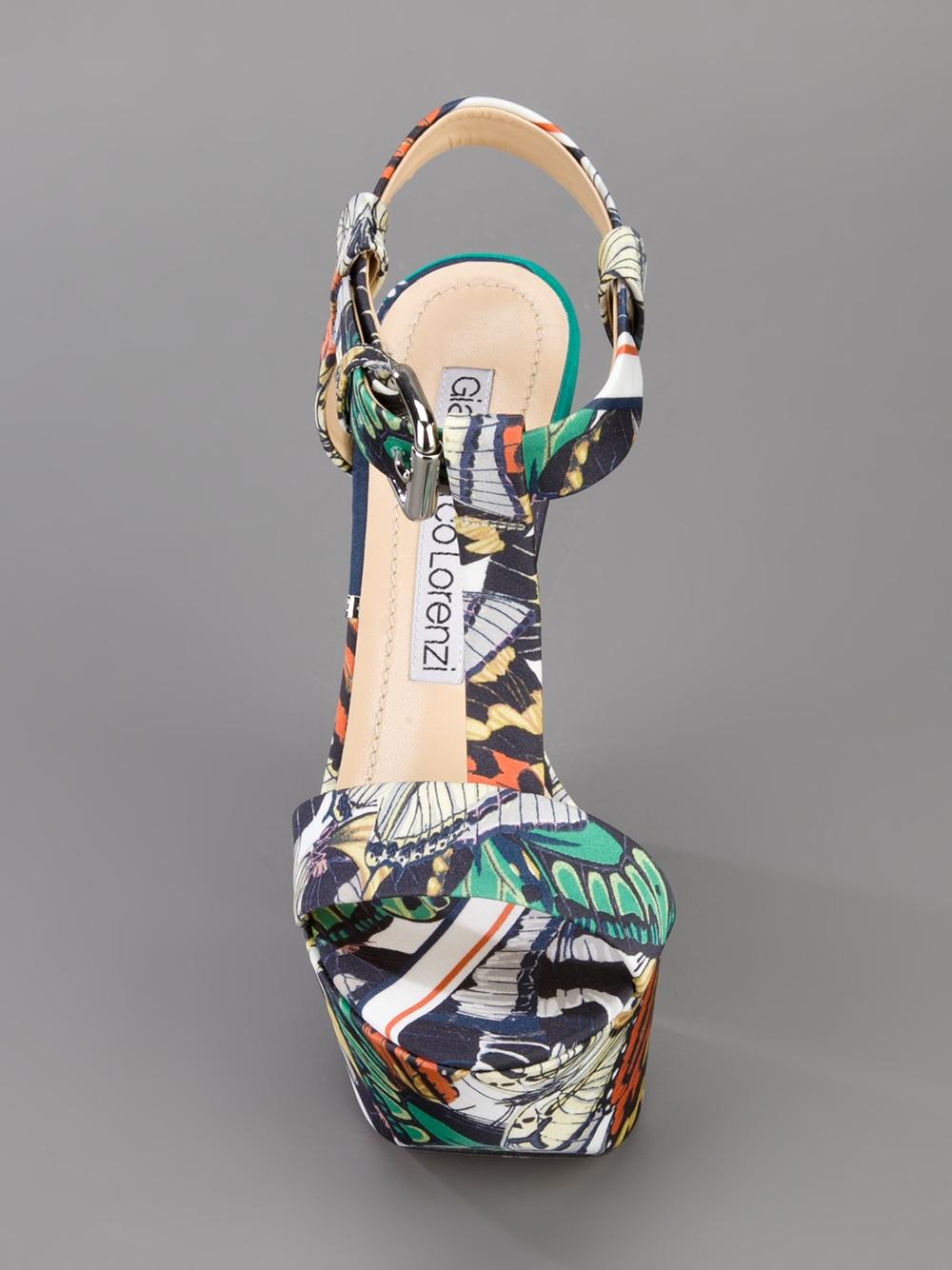 Gianmarco Lorenzi Printed Platform Sandal Lyst