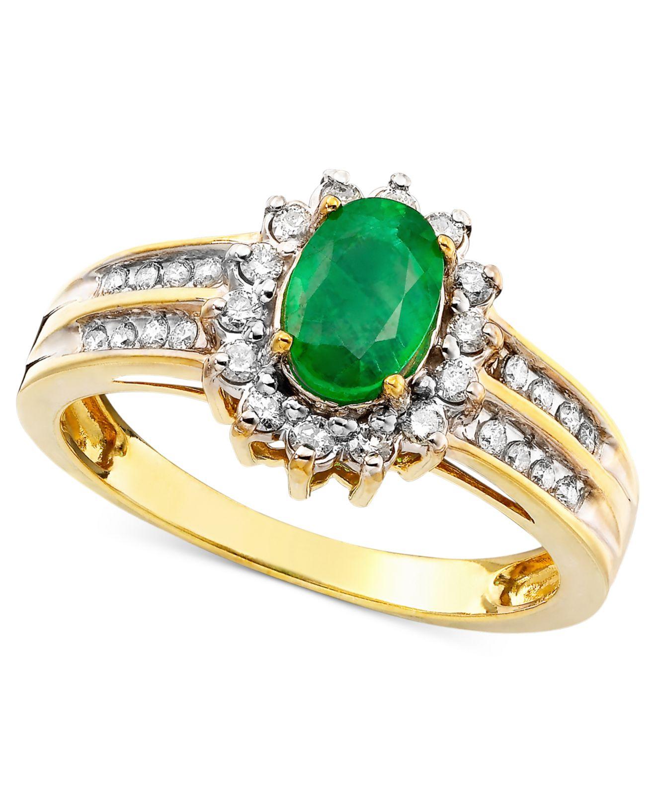 macy s emerald 3 4 ct t w and 3 8 ct t w