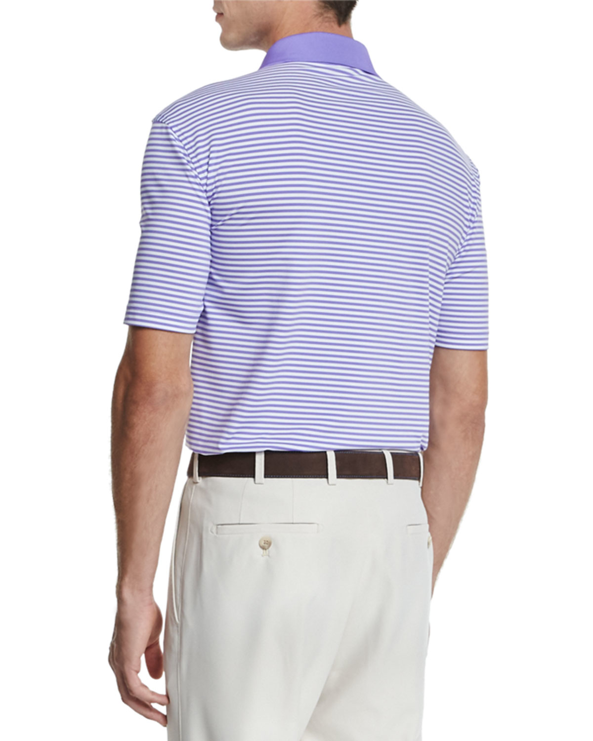 34fb15a6d Peter Millar Competition-stripe Stretch Polo Shirt in Purple for Men ...