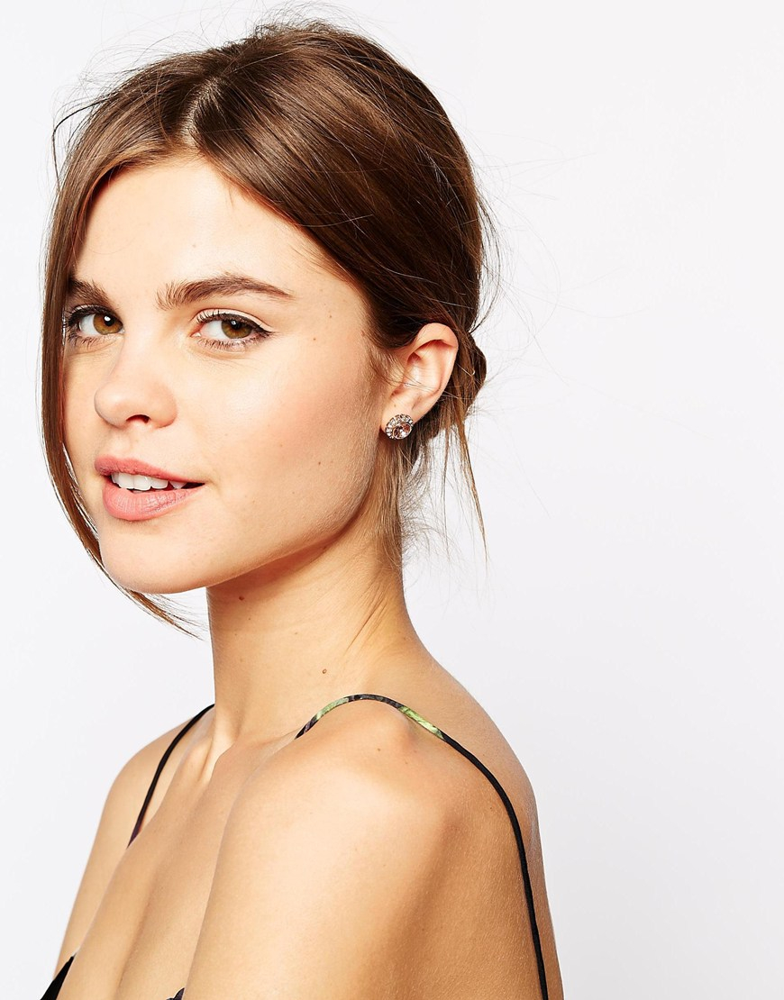 6bdaa3fe3 Lyst Ted Baker Sully Crystal Chain Stud Earring In Pink. Gallery. Lyst Ted  Baker Rose Gold ...