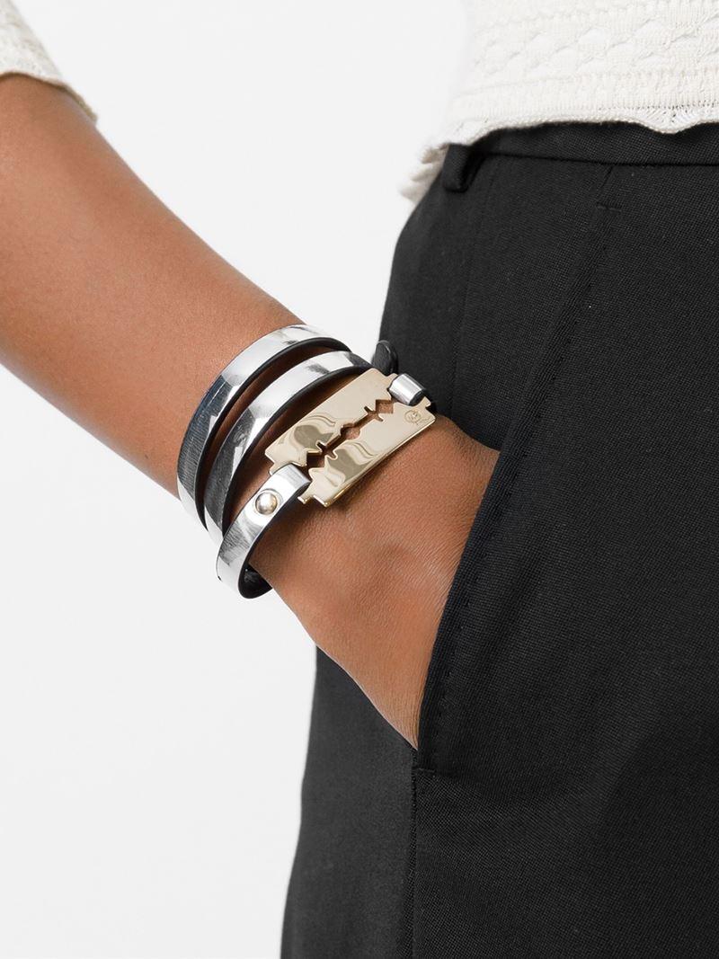 Razor Blade Triple Wrap Bracelet
