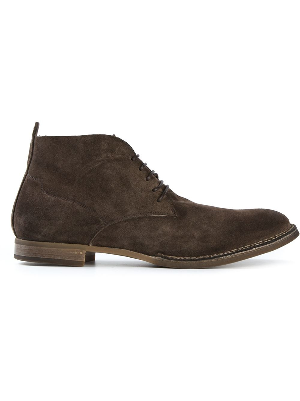 silvano sassetti lace up chukka boots in brown for lyst