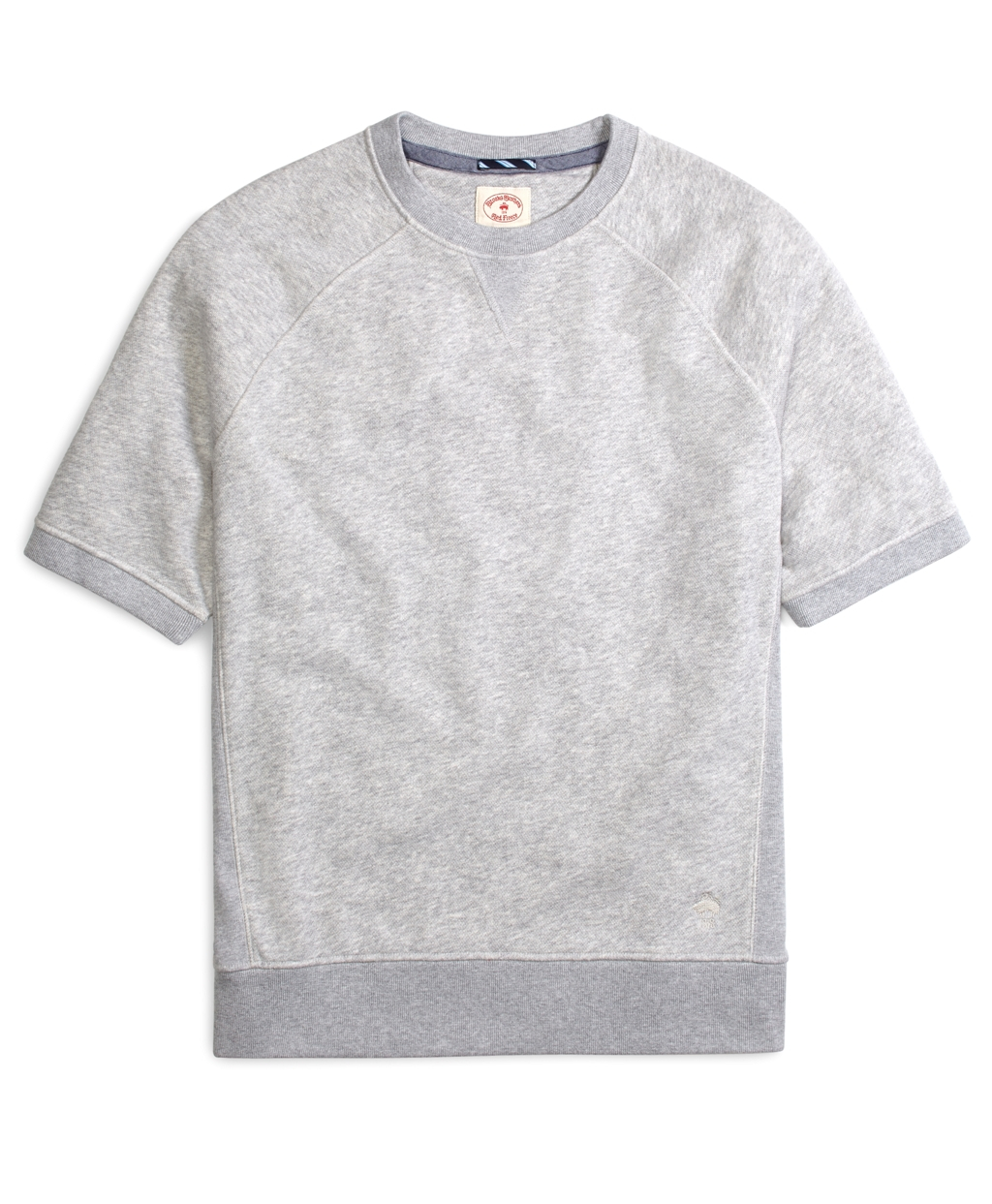 Brooks brothers Raglan Short-Sleeve Sweatshirt in Gray for Men | Lyst
