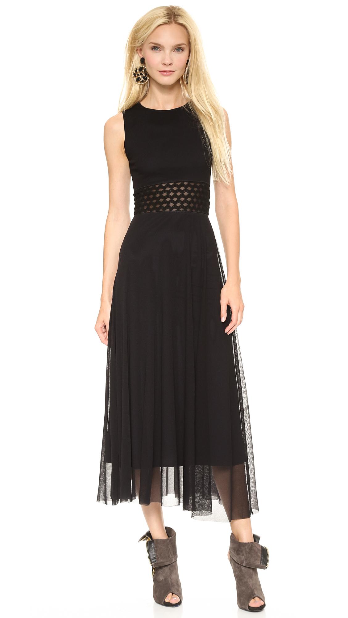 Jean Paul Gaultier Sleeveless Tank Dress Black Lyst