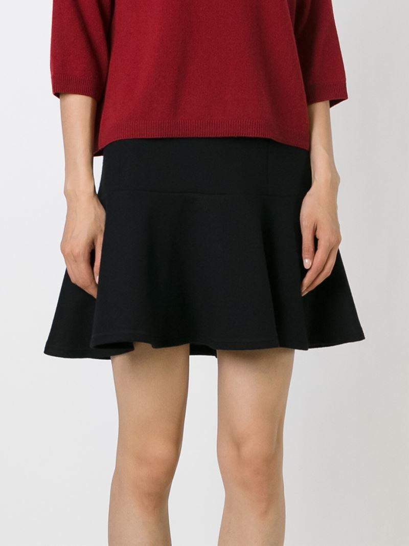 fendi pleated skater skirt in black lyst