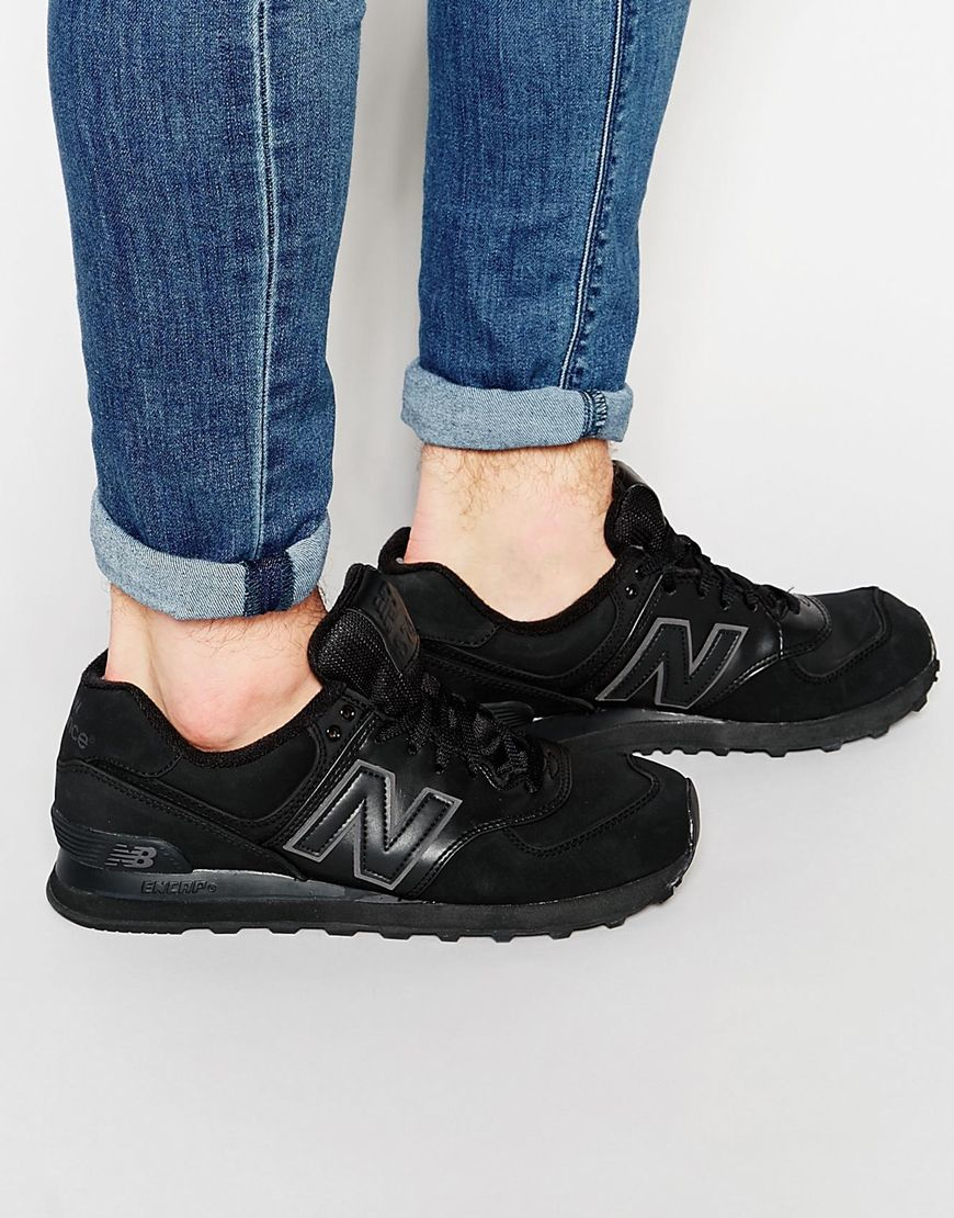 new balance trainers 574 black