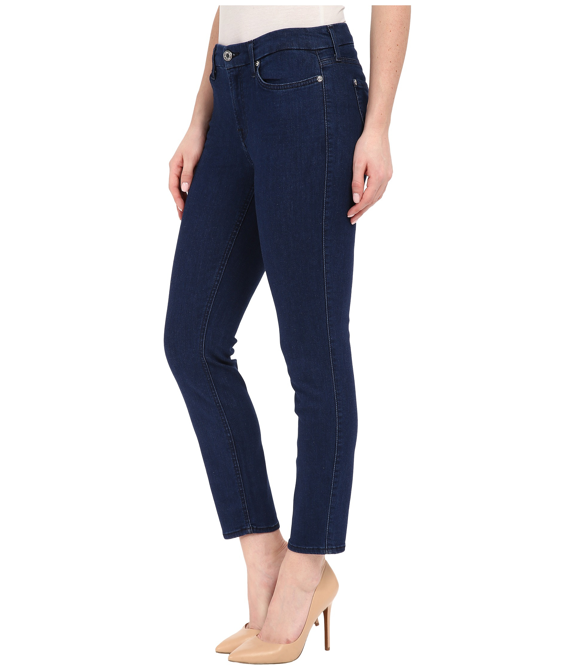 7 for all mankind Kimmie Crop In Slim Illusion Luxe Bright Rinse ...
