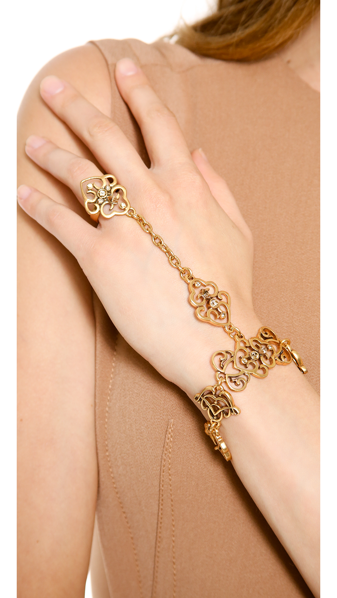 Gold Bracelet With Ring