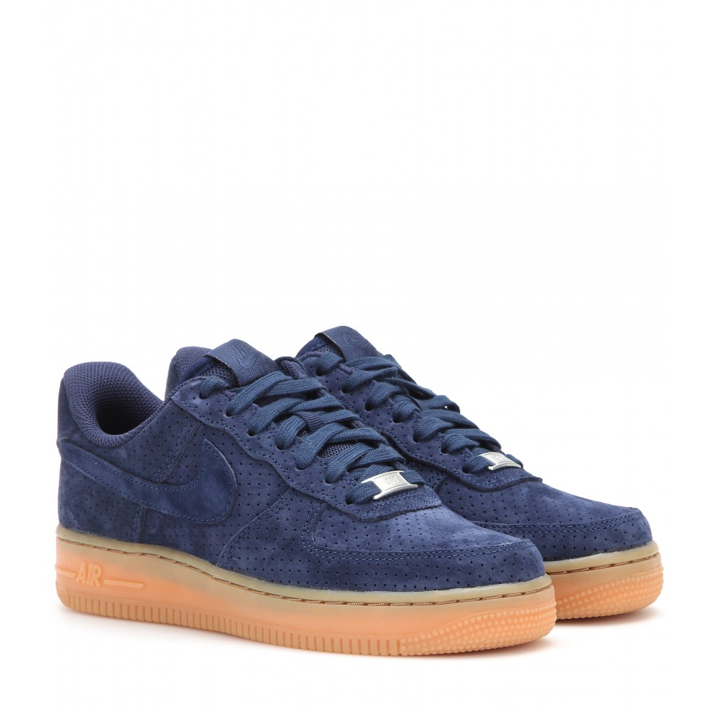 nike air force 1 suede sneakers in blue lyst. Black Bedroom Furniture Sets. Home Design Ideas