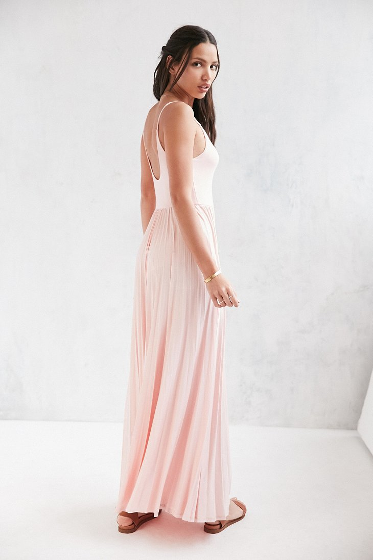 Lyst Kimchi Blue Ballet Cinch Pleated Maxi Dress In Pink
