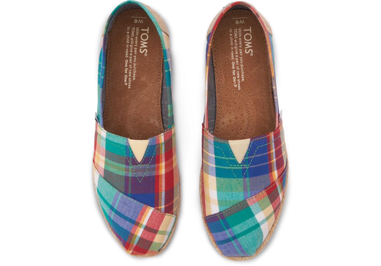 Womens Plaid Toms Shoes