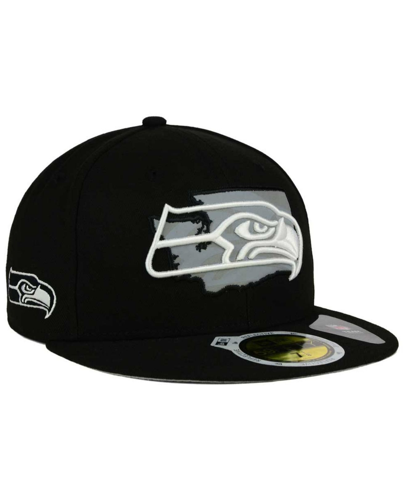 Lyst - KTZ Seattle Seahawks State Flective Redux 59fifty Cap in ... ad98dd8eb689