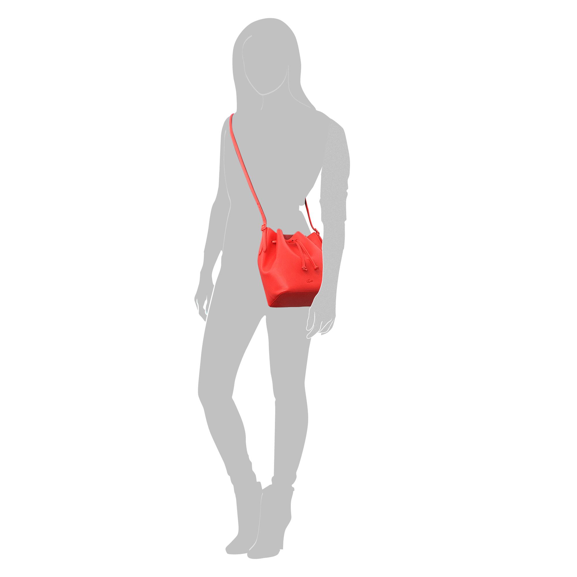 a48a07e838b8f3 Lyst - Lacoste Chantaco Bucket Bag in Red