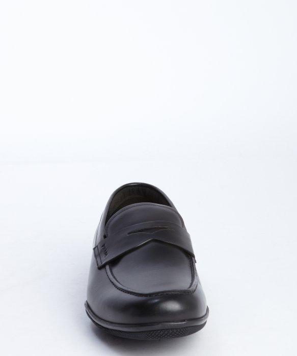 prada silver handbag - Prada Sport Black Leather Penny Loafers in Black for Men | Lyst