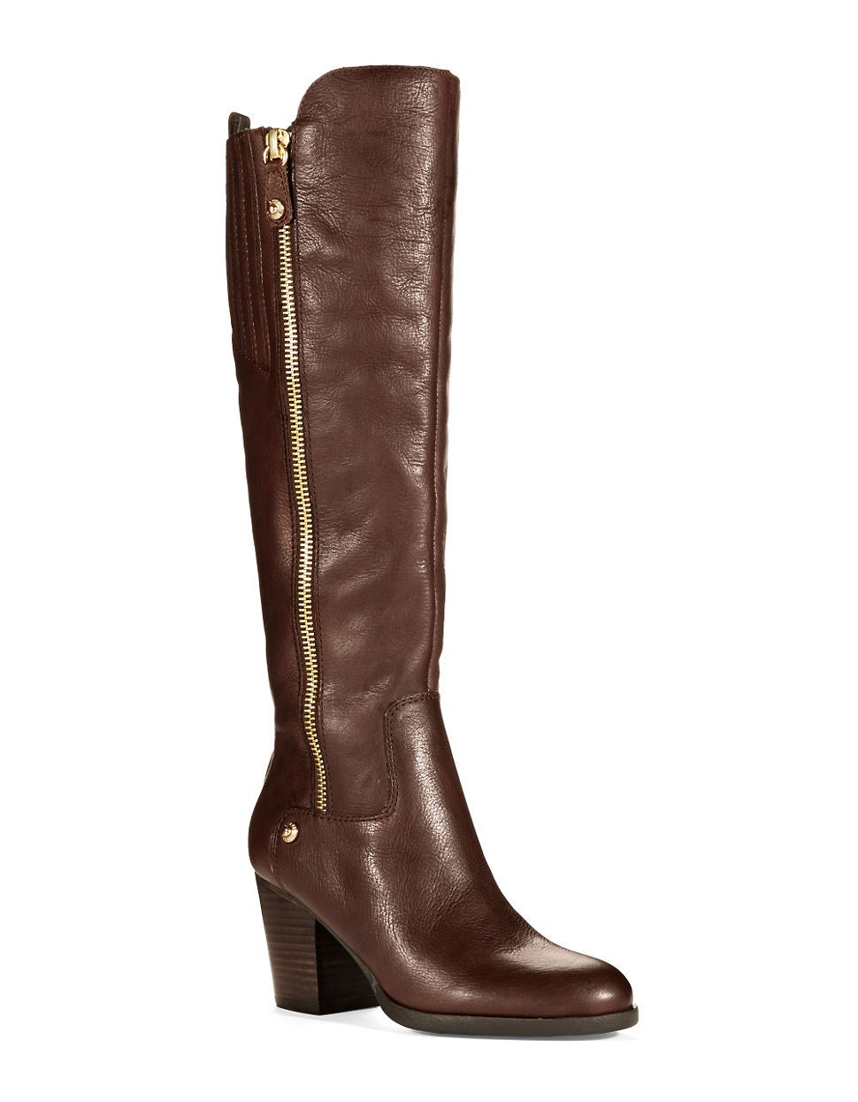 guess tolum leather boots in brown lyst