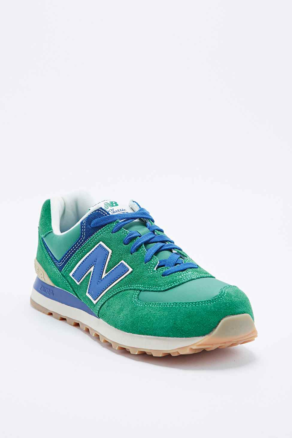 Classic Running And New Balance In Green 574 Trainers Blue roxeCBWd