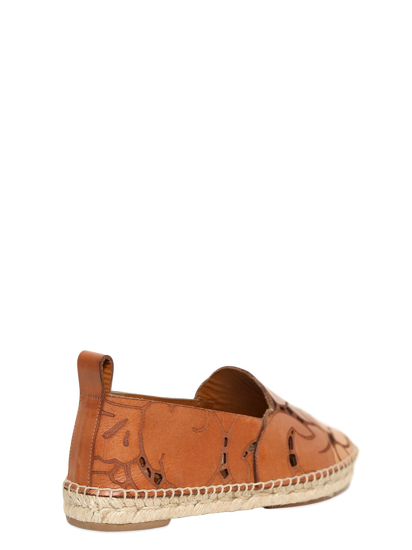 chloe leather handbags - Chlo�� 20mm Laser-cut Leather Espadrilles in Brown (RUST) | Lyst