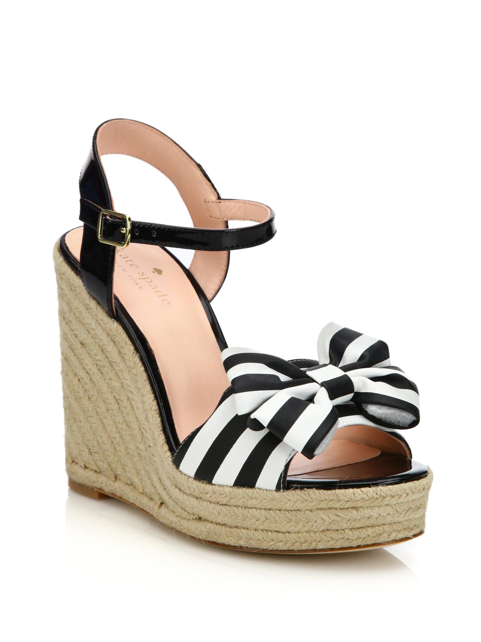 6e2f1edbd6be Lyst - Kate Spade Darya Espadrille Wedge Sandals in Black