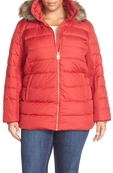 Michael Michael Kors Down Amp Feather Fill Coat With