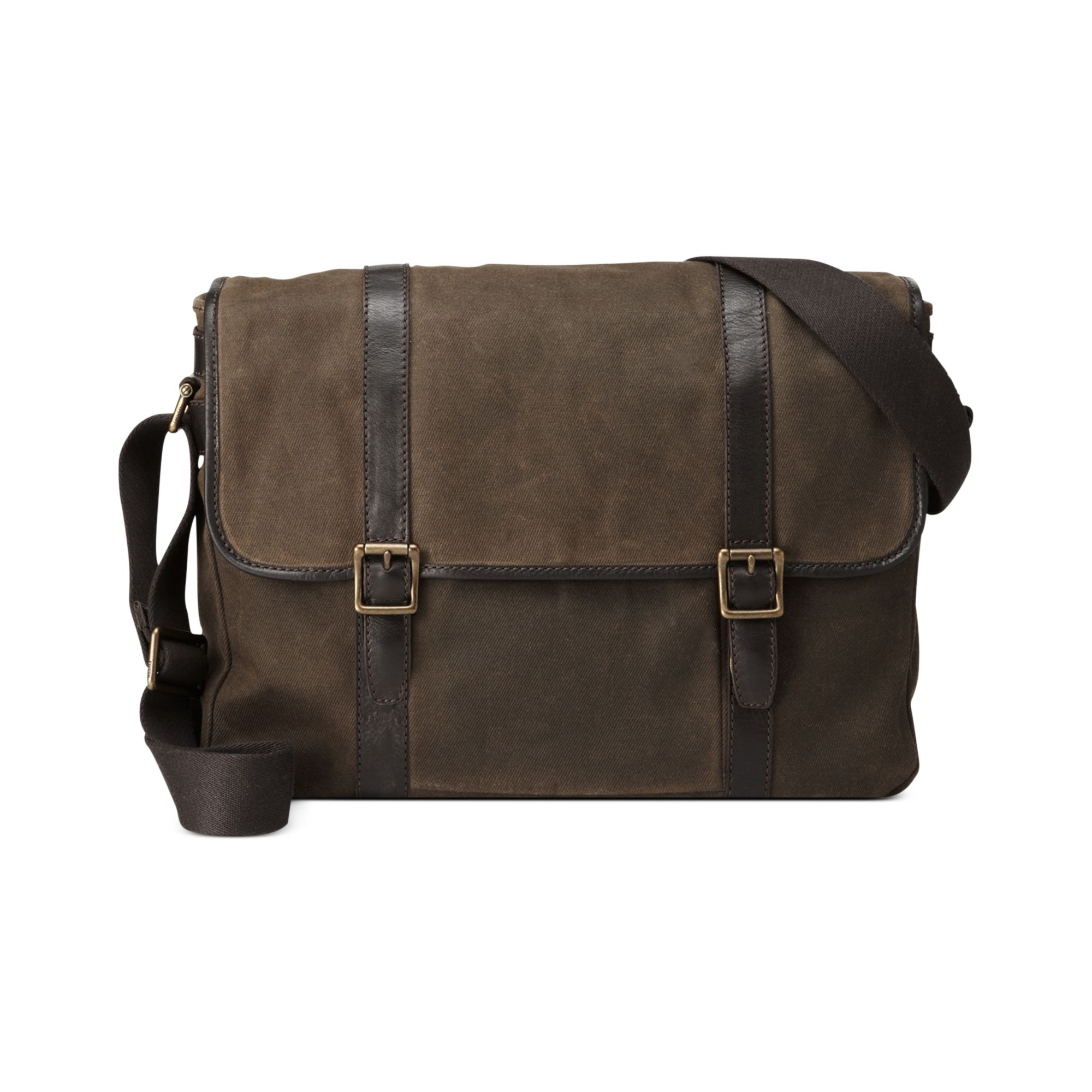 32a9b83cfe Fossil Estate Calvary Twill East West Messenger Bag in Natural for ...