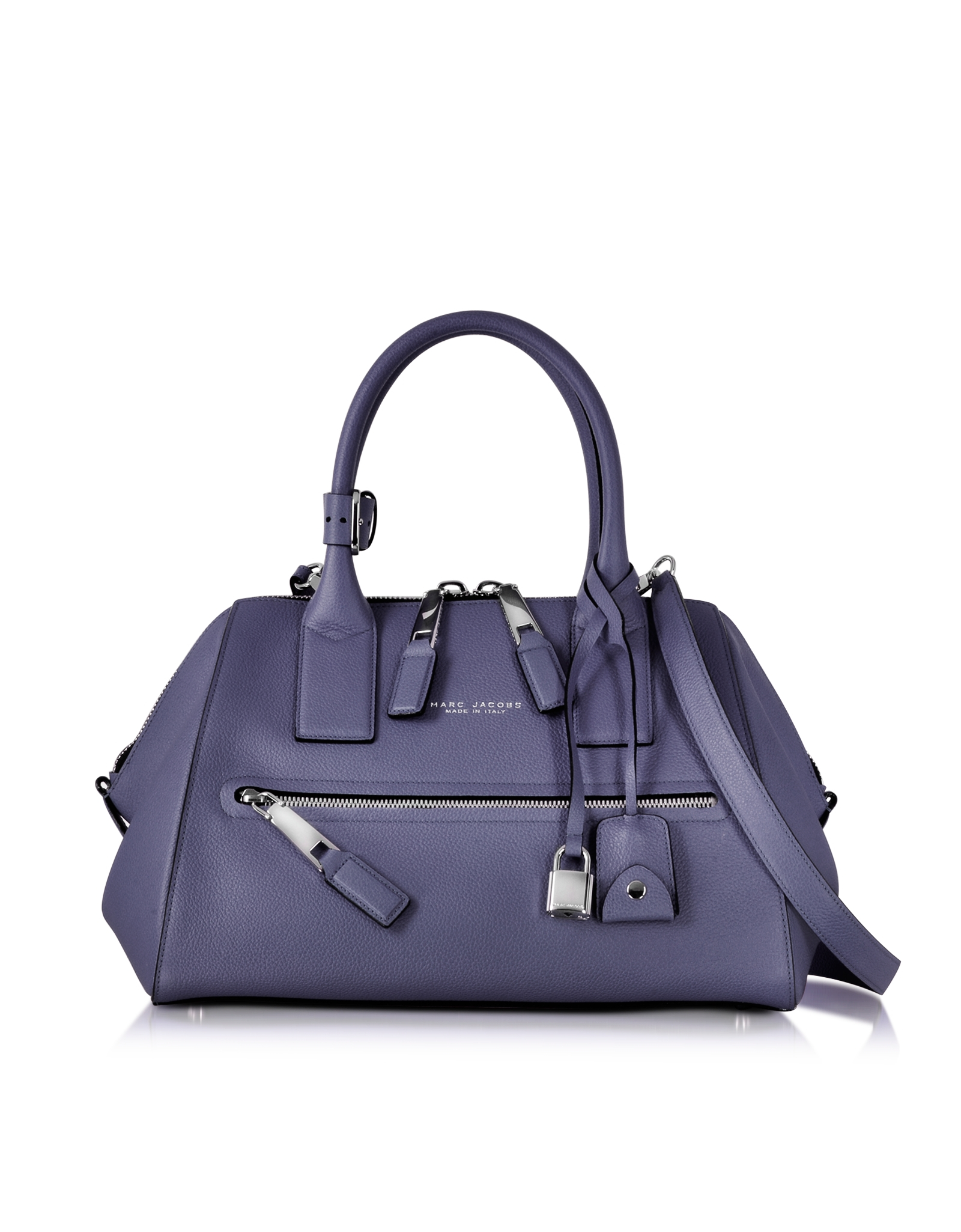 Marc Jacobs Textured Small Incognito Amethyst Leather