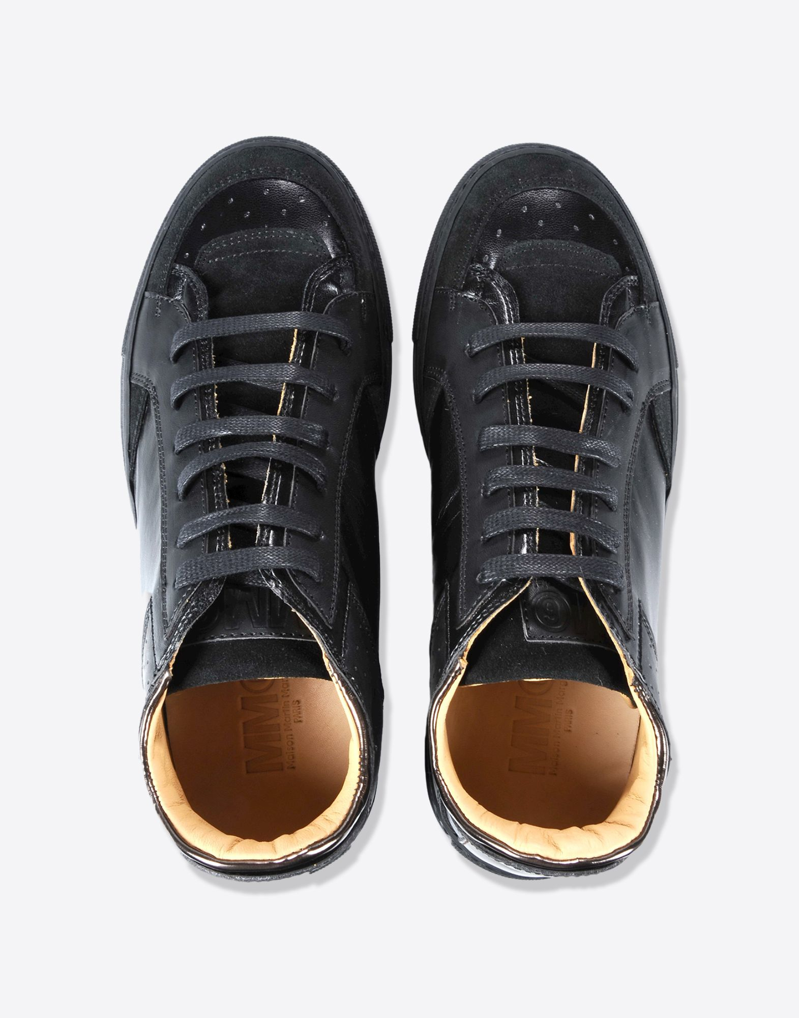 MM6 by Maison Martin Margiela Synthetic Classic Low Top Sneakers in Black