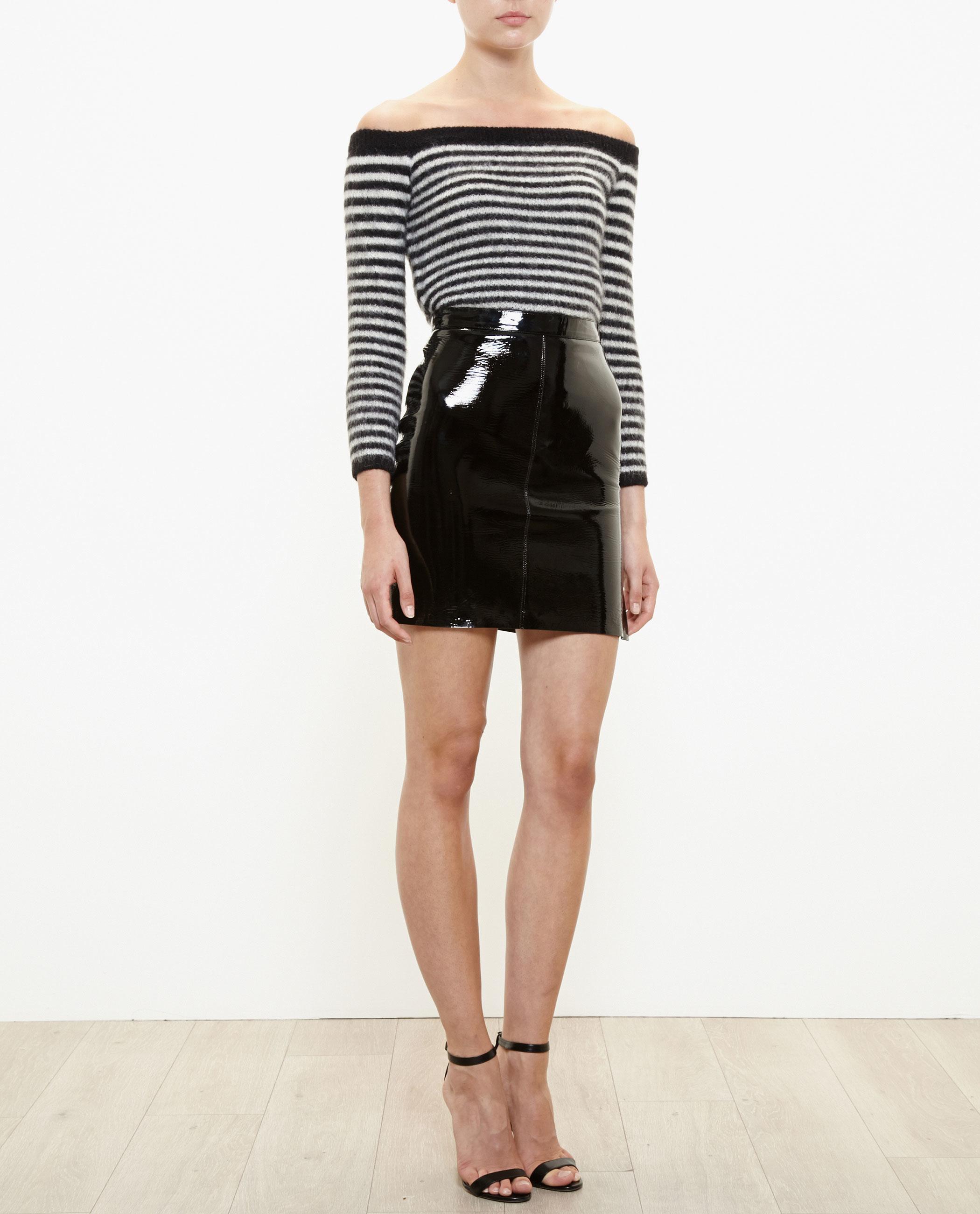 Saint Laurent Vinyl Mini Skirt In Black Lyst