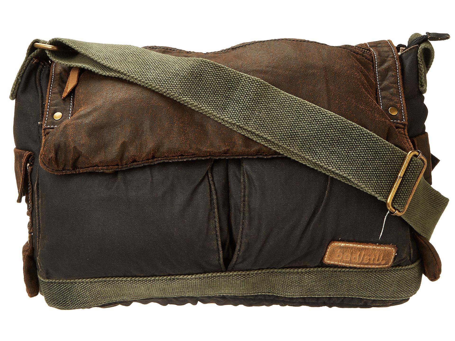 bed stu hawkeye messenger bag in brown for men lyst. Black Bedroom Furniture Sets. Home Design Ideas
