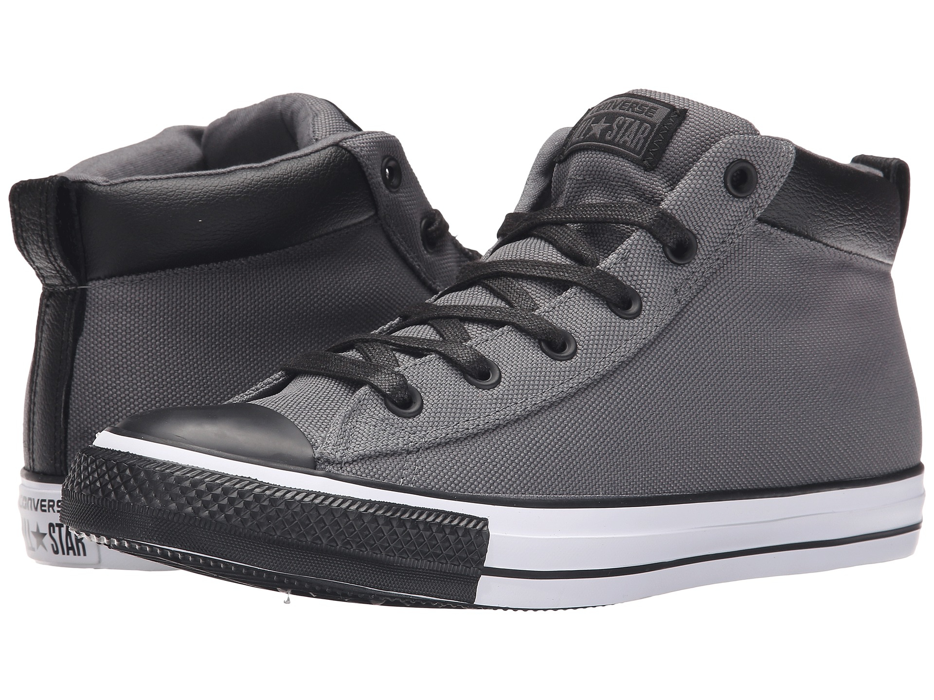 7cd91cd5f391 Lyst - Converse Chuck Taylor® All Star® Street Nylon Leather Hi in ...