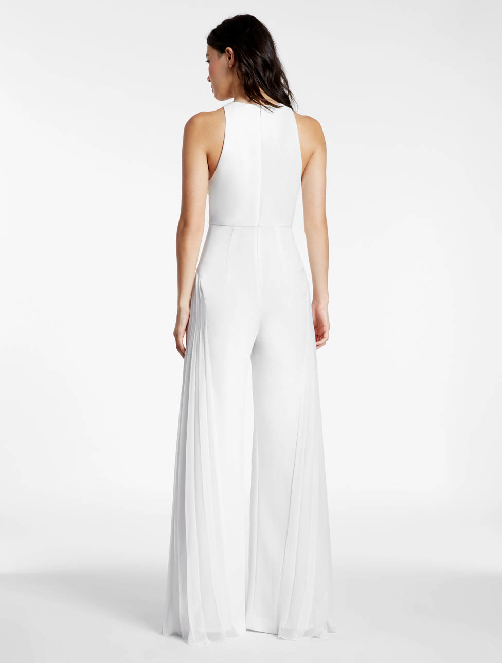 ef6e7336f32 Lyst - Halston Crepe Georgette Combo Jumpsuit in White
