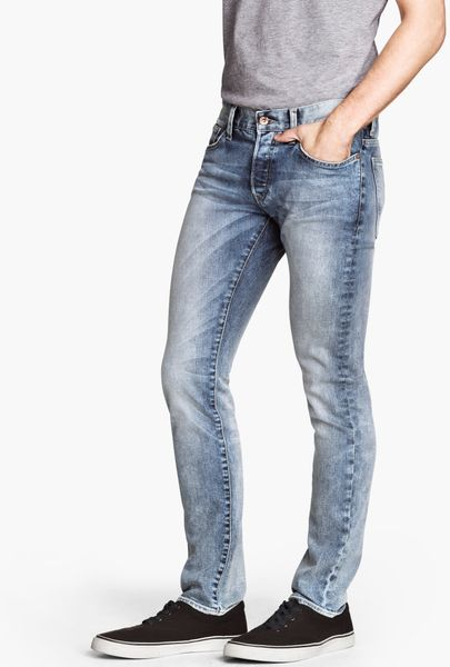 Slim Homme H&m H&m Slim Low Jeans in Blue