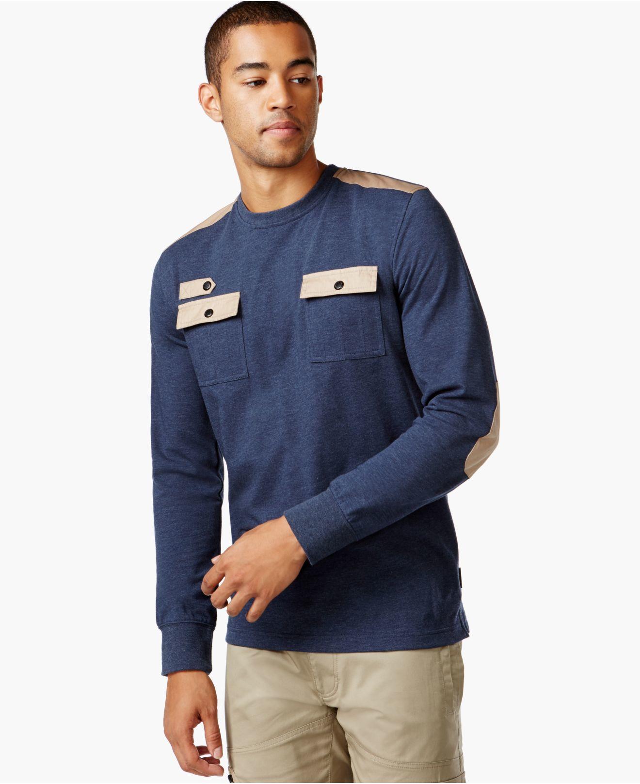 Sean john big tall flight t shirt in blue for men lyst for Sean john t shirts for mens