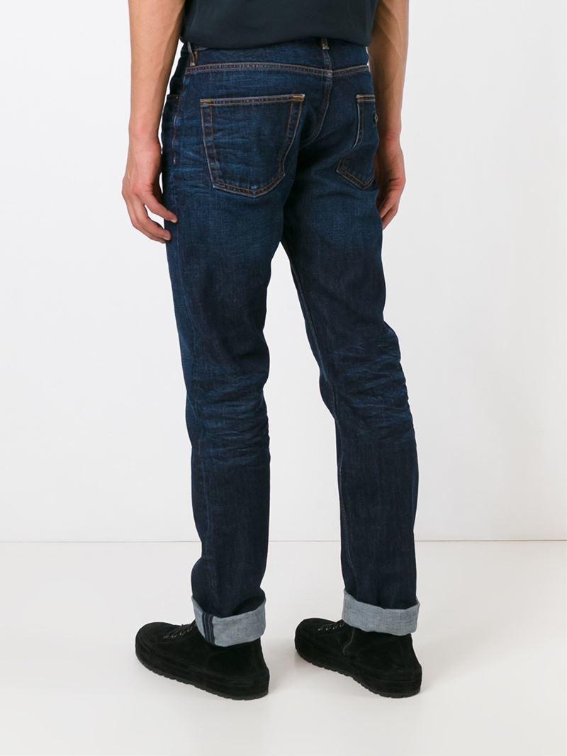 stone island straight leg jeans in blue for men lyst. Black Bedroom Furniture Sets. Home Design Ideas