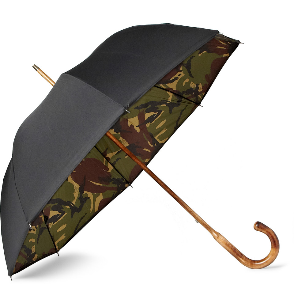 London Undercover Maple Handled Camouflage Lined Umbrella