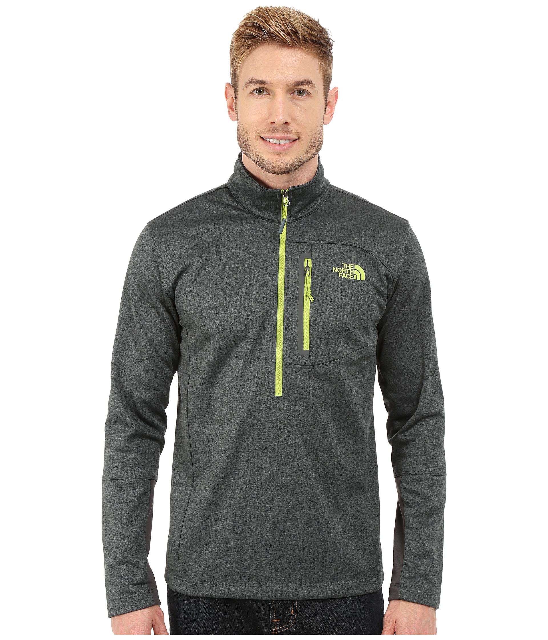 lyst the north face canyonlands 1 2 zip pullover in. Black Bedroom Furniture Sets. Home Design Ideas